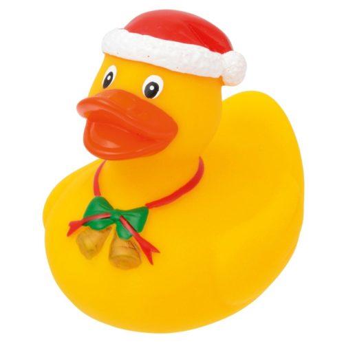 Quietschente Benedikt im Weihnachtsdesign