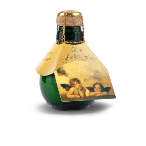 Kleinste Sektflasche der Welt Weihnachtsgruß Raffael