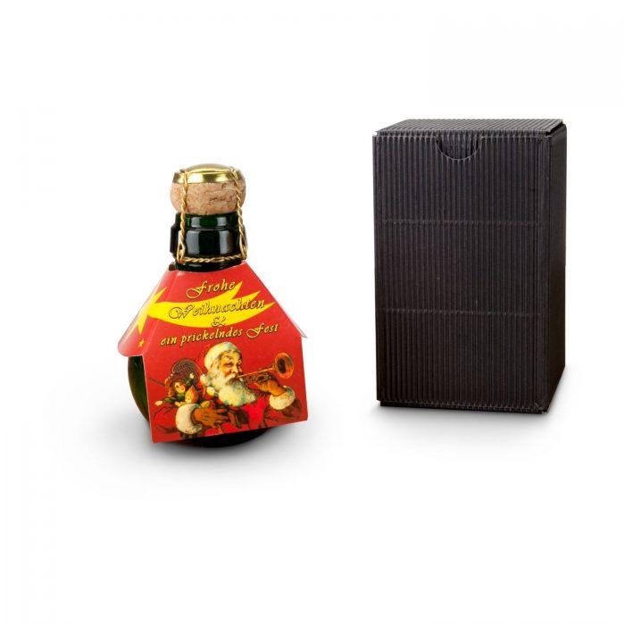 Kleinste Sektflasche der Welt Weihnachtsgruß