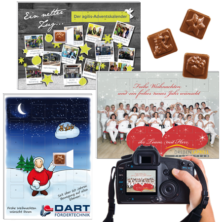 Schokoladen Adventskalender Klassik mit Ihrem Logo