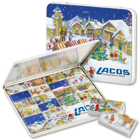Schokolade Adventskalender Maxi in Dekordose