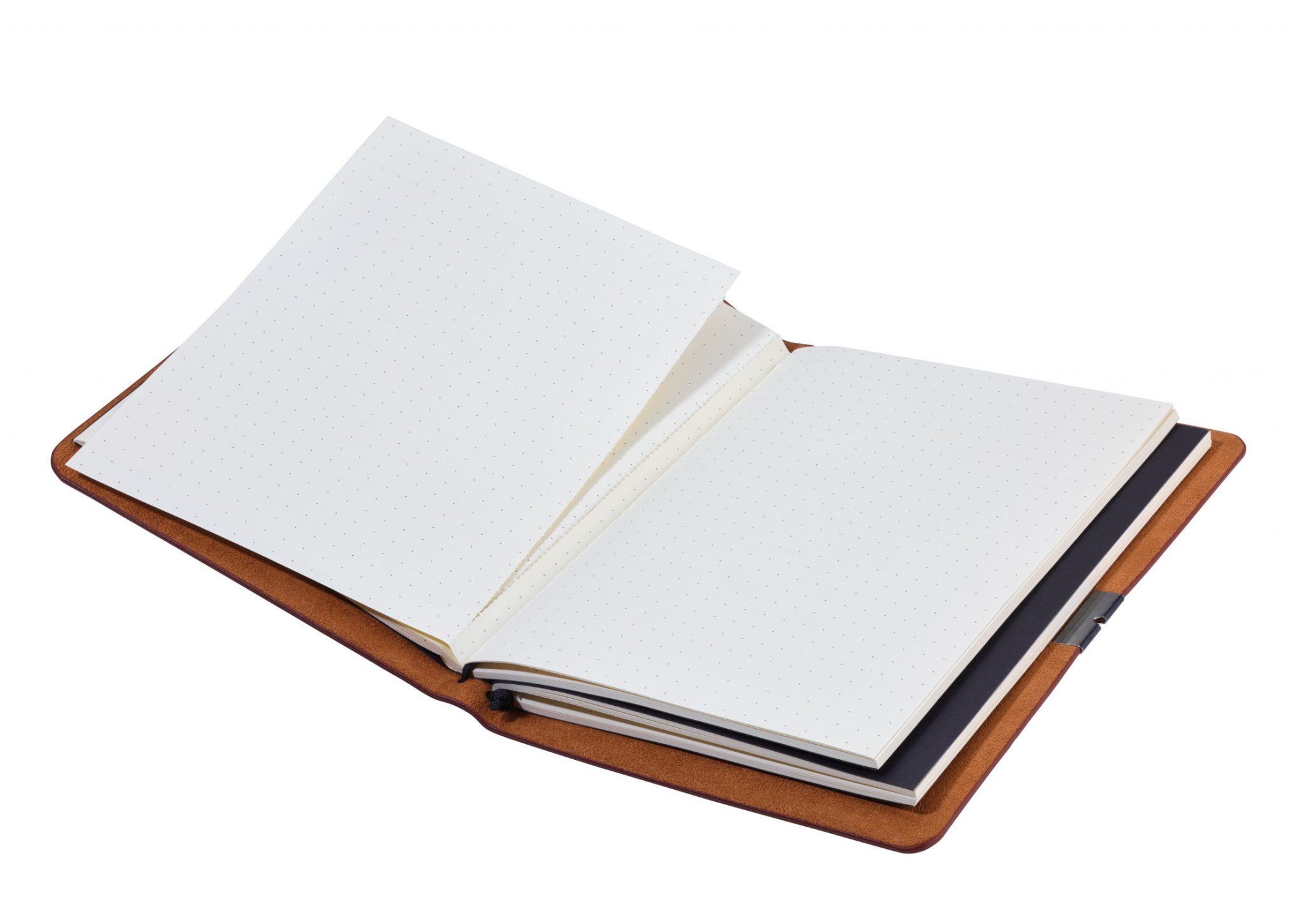 Bullet Journal mit individuellem Schriftzug oder Logo