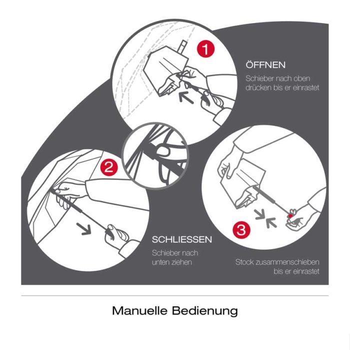 Knirps Taschenschirm E.050 mit individueller Werbeanbringung