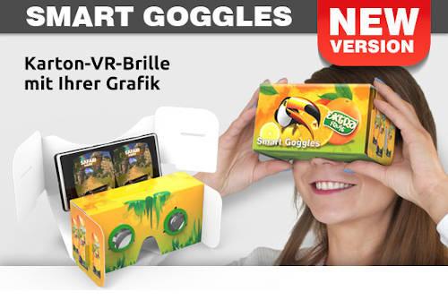 Smart Goggles mit Werbeaufdruck von Werbenetzwerk
