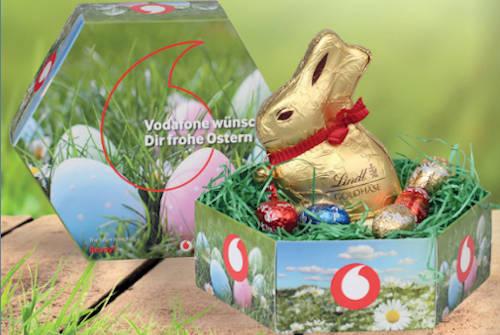Osternest von Lindt mit Werbeaufdruck von Geschenkewelt
